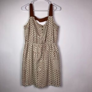 Burnt Sienna Cream Dress